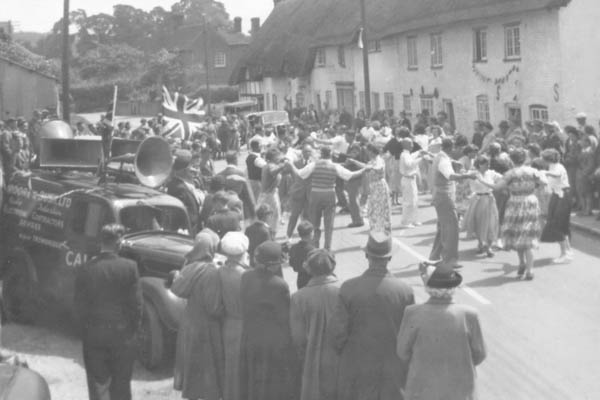 Hay MakingStreet dancing by the Churchill, taken at the time of the Coronation